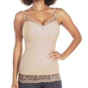 Rhonda Shear Intimates & Sleepwear - Rhonda Shear Camisole Pin Up Lace Nude Small